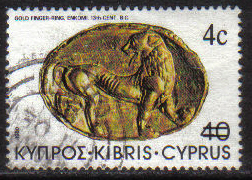 Cyprus Stamps SG 610 1983 4c Overprint - USED (g821)