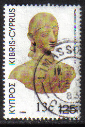 Cyprus Stamps SG 614 1983 13c Overprint - USED (g829)