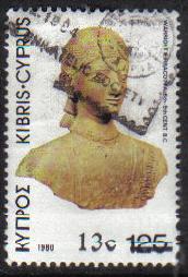 Cyprus Stamps SG 614 1983 13c Overprint - USED (g827)