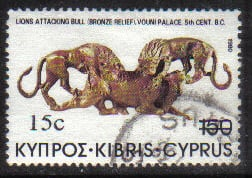 Cyprus Stamps SG 615 1983 15c Overprint - USED (g831)
