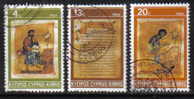 Cyprus Stamps SG 645-47 1984 Christmas - USED (g839)