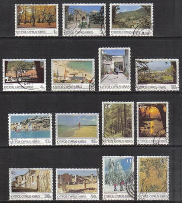 Cyprus Stamps SG 648-62 1985 6th Definitives Scenes - USED (g880)