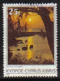 Cyprus Stamps SG 658 1985 25 Cent - USED (g848)