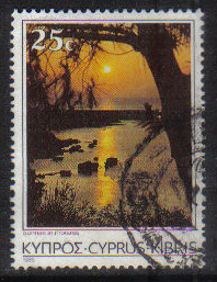 Cyprus Stamps SG 658 1985 25 Cent - USED (g849)