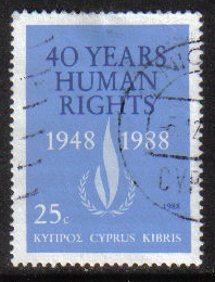 Cyprus Stamps SG 734 1988 Human rights - USED (g859)