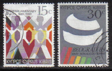 Cyprus Stamps SG 745-46 1989 Non Alligned Nations Conference - USED (g913)