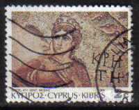Cyprus Stamps SG 757 1989 7th Definitives Mosaics 2 Cent - USED (g912)
