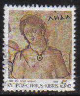 Cyprus Stamps SG 760 1989 7th Definitives Mosaics 5 Cent - USED (g907)