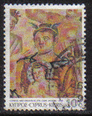 Cyprus Stamps SG 762 1989 7th Definitives Mosaics 10 Cent - USED (g900)