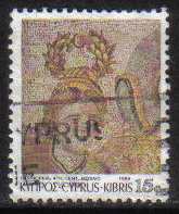 Cyprus Stamps SG 763 1989 7th Definitives Mosaics 15 Cent - USED (g897)