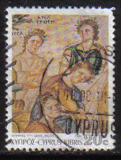 Cyprus Stamps SG 765 1989 7th Definitives Mosaics 20 Cent - USED (g889)