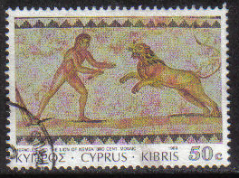 Cyprus Stamps SG 768 1989 7th Definitives Mosaics 50 Cent - USED (g881)