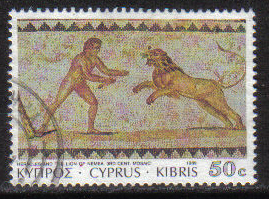 Cyprus Stamps SG 768 1989 7th Definitives Mosaics 50 Cent - USED (g882)