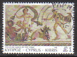 Cyprus Stamps SG 769 1989 7th Definitives Mosaics £1.00 Pound - USED (g877)