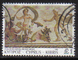Cyprus Stamps SG 769 1989 7th Definitives Mosaics £1.00 Pound - USED (g878)