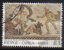 Cyprus Stamps SG 769 1989 7th Definitives Mosaics £1.00 Pound - USED (g879)