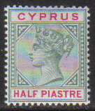 Cyprus Stamps SG 040 1896 Half piastre - MINT (g930)