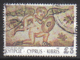 Cyprus Stamps SG 770 1989 7th Definitives Mosaics £3.00 Pound - USED (g876)