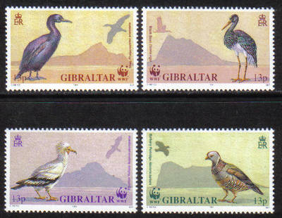 Gibraltar Stamps SG 0665-58 1991 Birds - MINT
