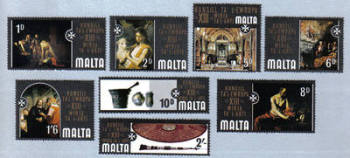 Malta Stamps SG 0430-37 1970 European Art - MINT