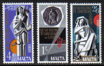 Malta Stamps SG 0412-14 1968 Food - MINT