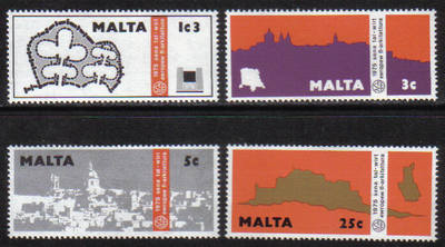 Malta Stamps SG 0545-48 1975 Architecture - MINT
