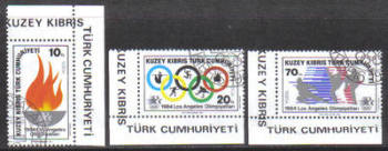 North Cyprus Stamps SG 150-52 1984 Los Angeles Olympic Games - CTO USED (g942)