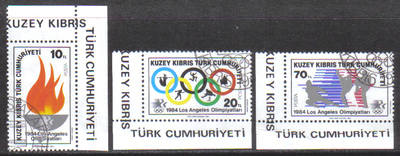 North Cyprus Stamps SG 150-52 1984 Los Angeles Olympic Games - CTO USED (g9