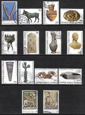 Cyprus Stamps SG 545-58 1980 Definitives Antiquities - USED (g949)