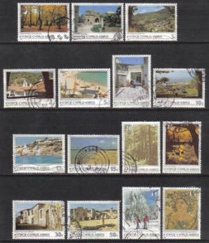 Cyprus Stamps SG 648-62 1985 6th Definitives Scenes - USED (g968)