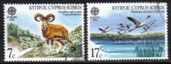 Cyprus Stamps SG 678-79 1986 Europa Nature - USED (g969)