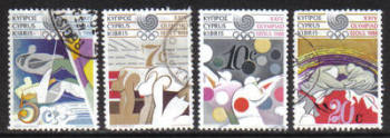 Cyprus Stamps SG 722-25 1988 Seoul Olympic Games - USED (g973)