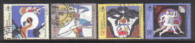 Cyprus Stamps SG 735-38 1989 3rd Small European states games - USED (g974)