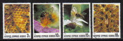 Cyprus Stamps SG 748-51 1989 Bees - USED (g975)