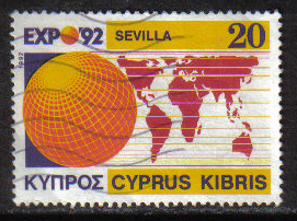 Cyprus Stamps SG 815 1992 20c Seville EXPO 1992 - USED (g999)