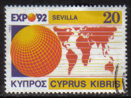 Cyprus Stamps SG 815 1992 20c Seville EXPO 1992 - USED (h001)