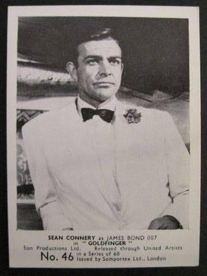 James Bond Original 1964 Somportex Trade Card. Number 46