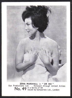 James Bond Original 1964 Somportex Trade Card. Number 49