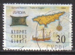 Cyprus Stamps SG 848 1994 34c - USED (h034)