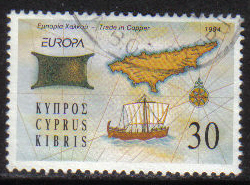 Cyprus Stamps SG 848 1994 34c - USED (h035)