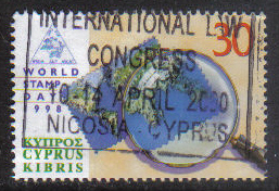 Cyprus Stamps SG 960 1998 World Stamp day - USED (h116)