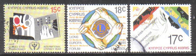 Cyprus Stamps SG 771-73 1990 Anniversaries and Events - USED (h133)