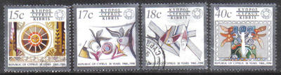 Cyprus Stamps SG 780-83 1990 30th Aniversary of Cyprus Republic - USED (h13