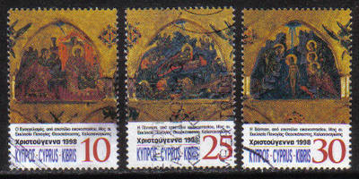 Cyprus Stamps SG 961-63 1998 Christmas - USED (h188)