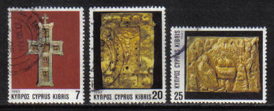 Cyprus Stamps SG 844-46 1993 Christmas Church Crosses - USED (h154)
