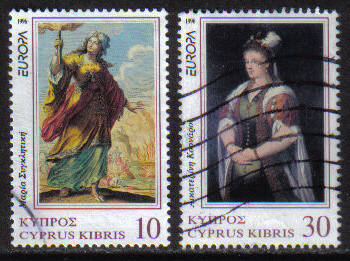 Cyprus Stamps SG 904-05 1996 Europa Famous Women - USED (h161)
