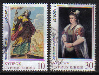 Cyprus Stamps SG 904-05 1996 Europa Famous Women - USED (h162)