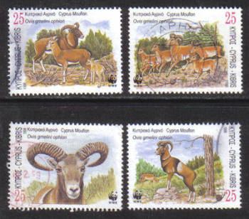 Cyprus Stamps SG 941-44 1998 World Wildlife Fund Mouflon - USED (h170)