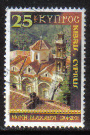 Cyprus Stamps SG 1022 2001 25c - USED (h219)