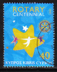 Cyprus Stamps SG 1094 2005 Centenary of Rotary international - USED (h243)